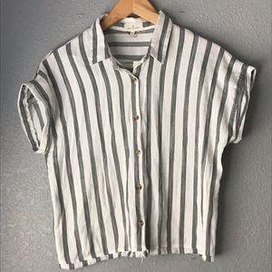 Thread & Supply button down short sleeve top